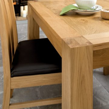 Lyon Oak 6 Seater Dining Table