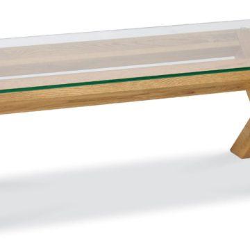 Lyon Oak Glass Coffee Table