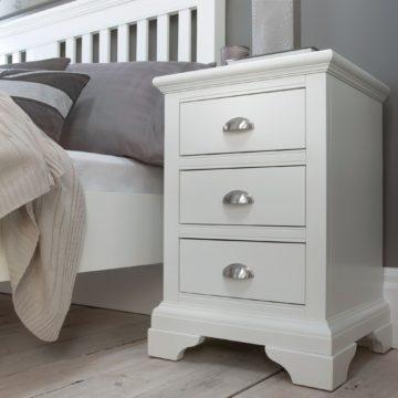 Hampstead White 3 Drawer Nightstand
