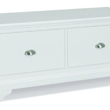 Hampstead White Blanket Box