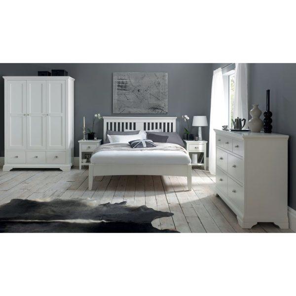 Hampstead White 1 Drawer Nightstand