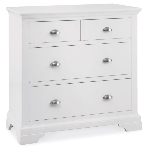 Hampstead White 2 x 2 Drawer Chest
