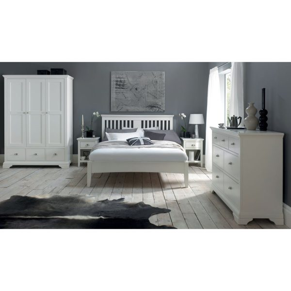 Hampstead White Double Bedstead