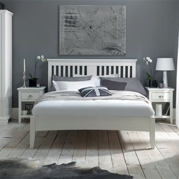 Hampstead White Double Headboard