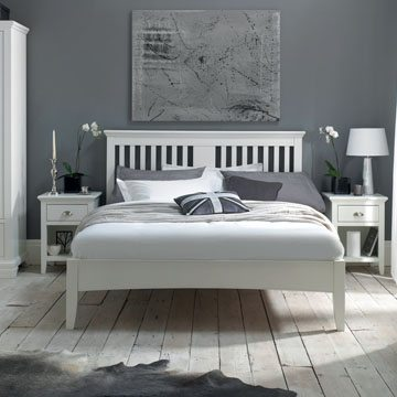 Hampstead White King Size Bedstead