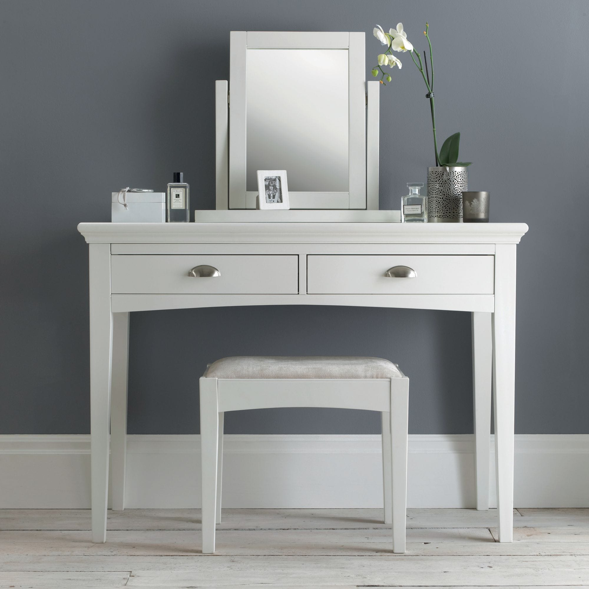 Hampstead White Vanity Mirror Haven Furniture