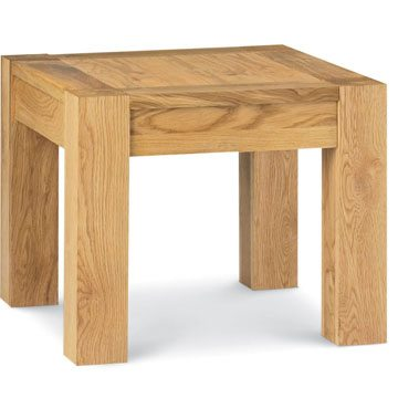 Lyon Oak Square Lamp Table