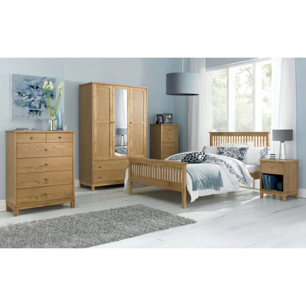 Atlanta Oak Double Wardrobe