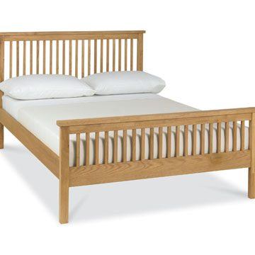 Atlanta Oak High Foot Bedstead