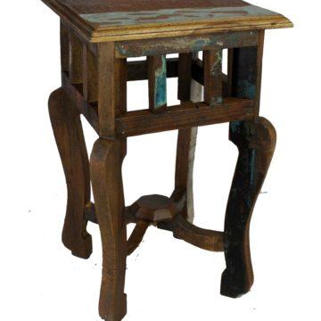 Old Painted Teak Side Table