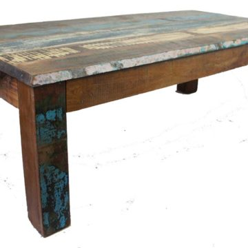 Old Painted Teak Coffee Table