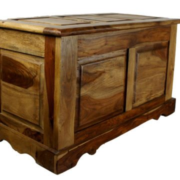 Eco Indian Darkwood Blanket Box
