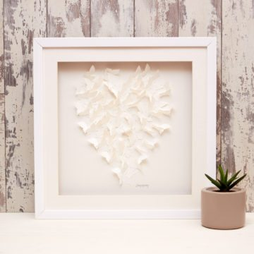 'Champagne White' Heart Collection