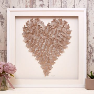 'Gold Sparkle' Heart Collection