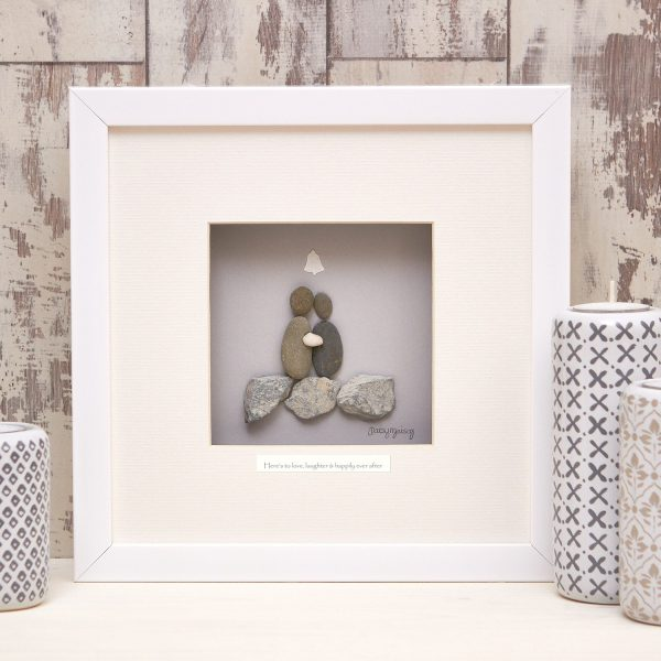 'Heres To Love, Laughter & Happily Ever After' Pebble Picture