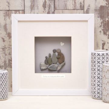 'The Love Of a Family Makes Life Beautiful' Pebble Picture