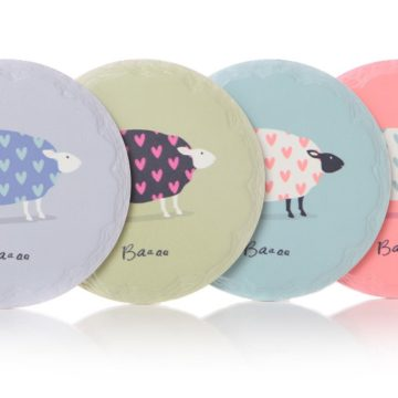 Set of 4 Baaa Round Coasters