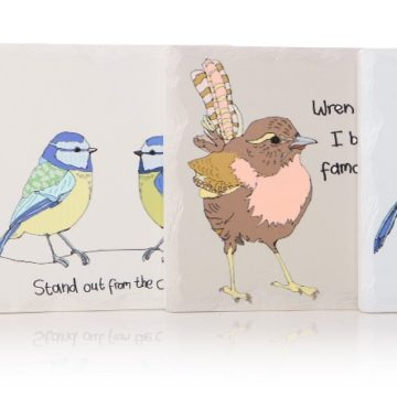 Birdsong Set of 4 Square Coasters