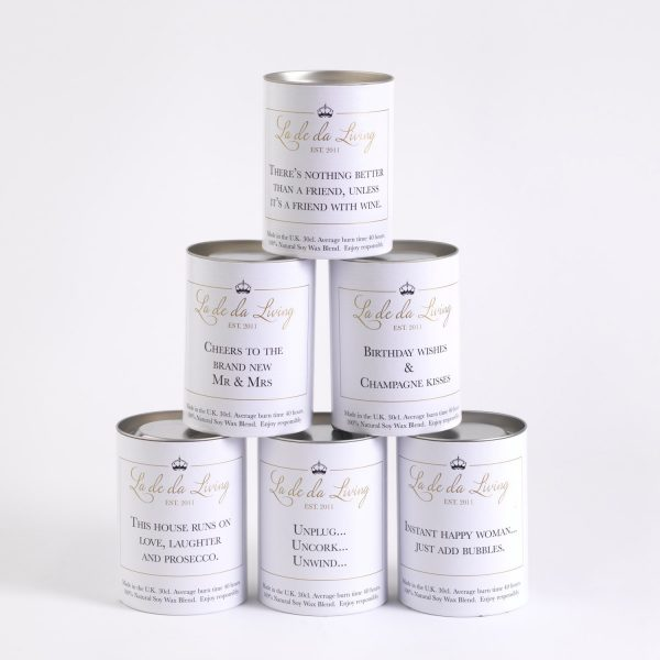 POP Candle – 'Cheers, Salut, Thank You'