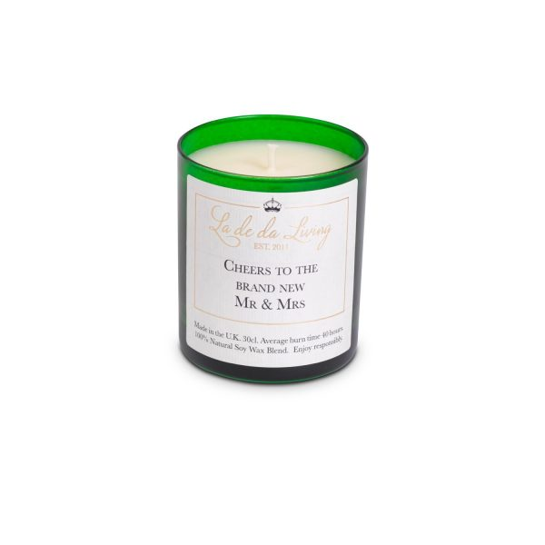 POP Candle – 'Cheers To The Brand New Mr & Mrs'