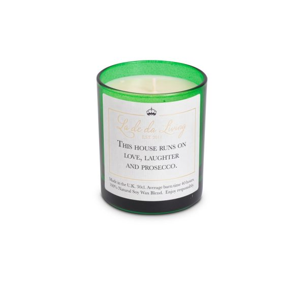 POP Candle – 'This House Runs On Love, Laughter & Prosecco'