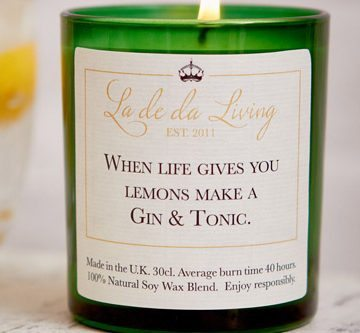 POP Candle – 'When Life Gives You Lemons Make A Gin & Tonic'