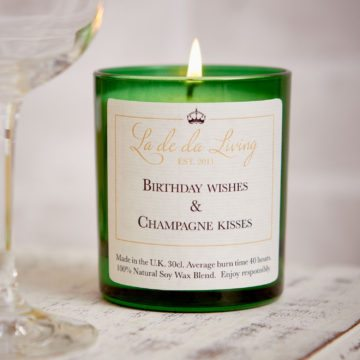 POP Candle – 'Birthday Wishes & Champagne Kisses'