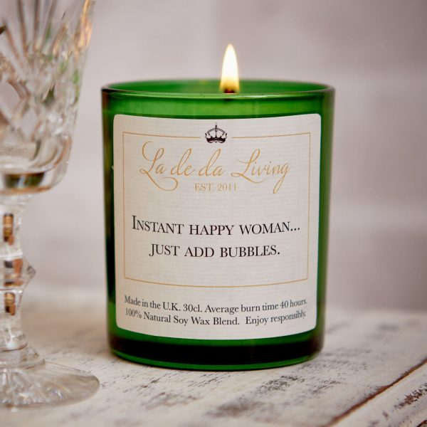 POP Candle – 'Instant Happy Woman…Just Add Bubbles'