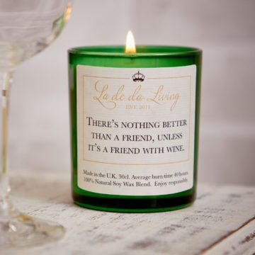 POP Candle – 'There's Nothing Better Than A Friend, Unless It's A Friend With Wine'