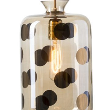 Pillar Pendant Lamp, Gold Dots 1