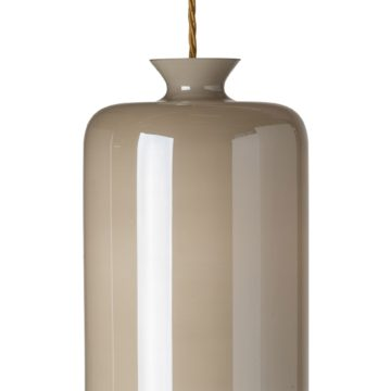 Pillar lamp, white:mother of pearl