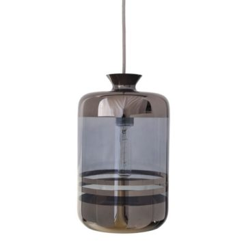 Pillar pendant lamp, blue stripes on blue