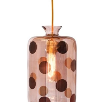 Pillar pendant lamp, copper dots