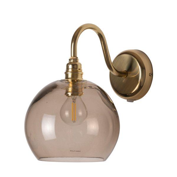 Rowan Wall Lamp Chestnut Brown, 15cm