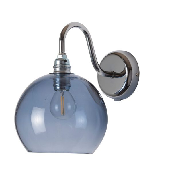 Rowan Wall Lamp, Deep Blue, 15cm
