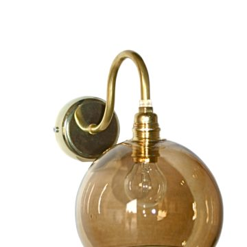 Rowan wall lamp, chestnut brown, 15cm