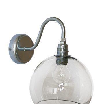 Rowan Wall Lamp, Smokey Grey, 15cm