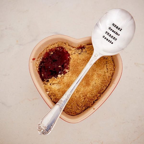 Dessert Spoon – 'Merci, Gracias, Thanks, Danke, Grazie'