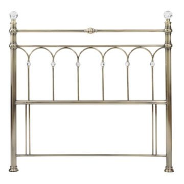 Antique Brass Krystal Headboard