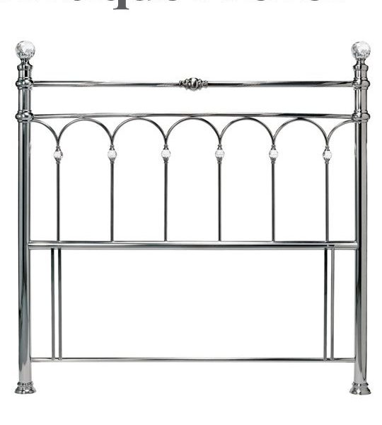 Antique Nickel Krystal Headboard