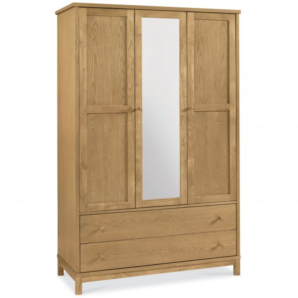 Atlanta Oak Triple Wardrobe