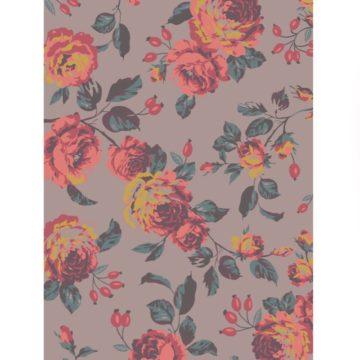 Floral-Print-Latte-Flat