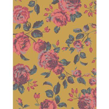 Floral-Print-Mustard-Flat