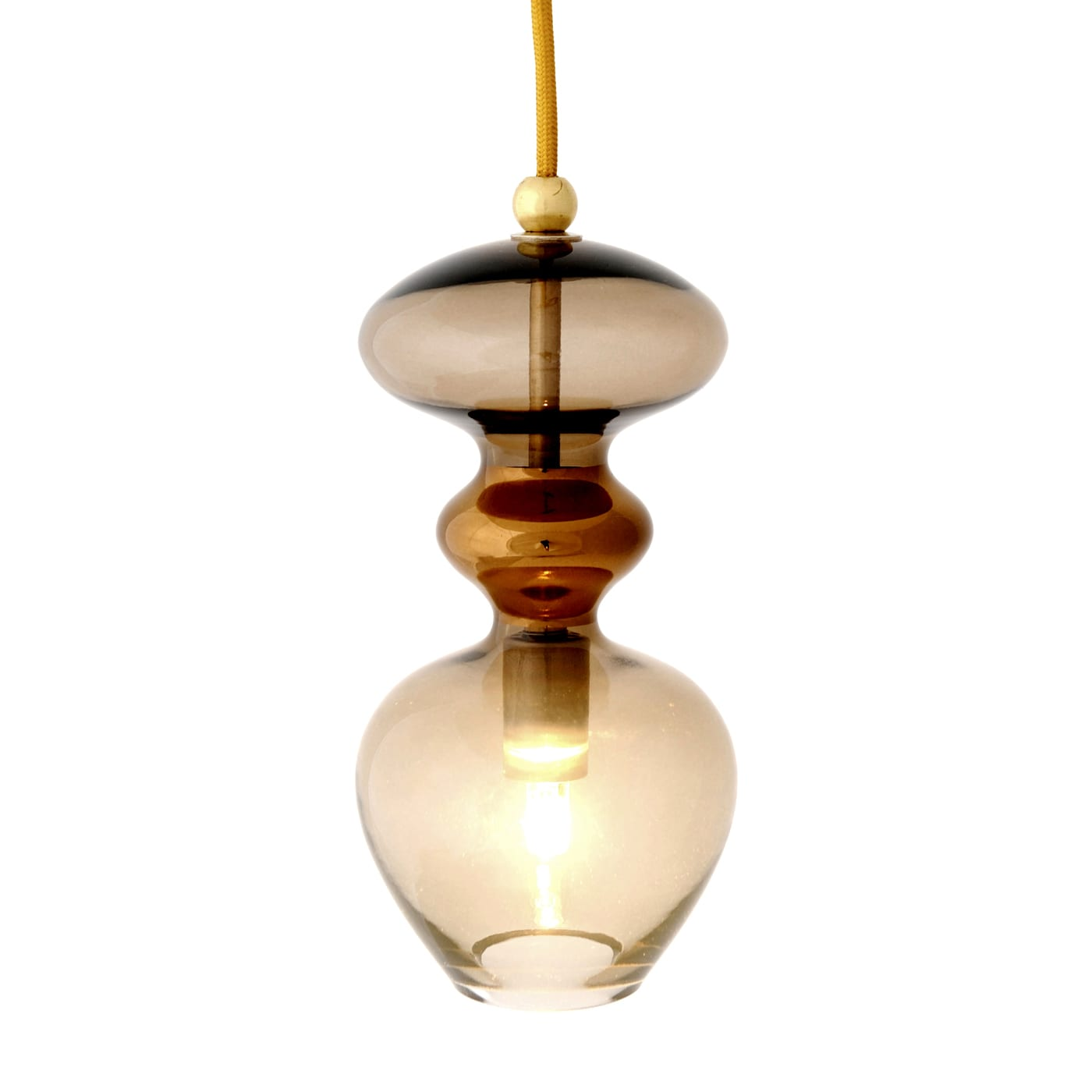 Futura Pendant Lamp, Chestnut Brown, 24cmH