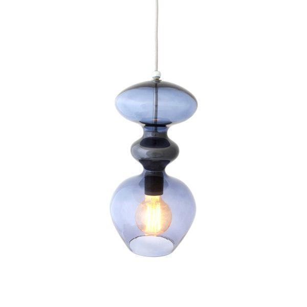 Futura Pendant Lamp, Deep Blue, 37cmH