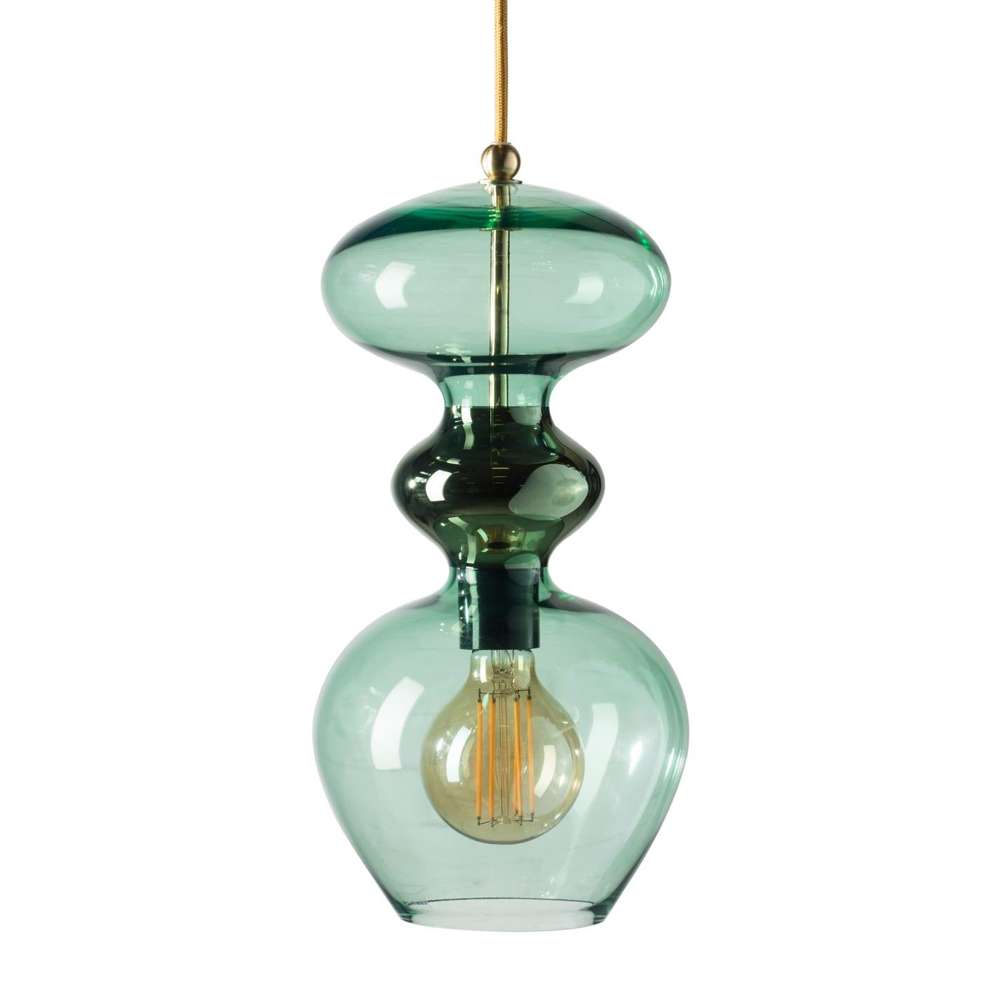 Futura Pendant Lamp, Forest Green, 37cmH