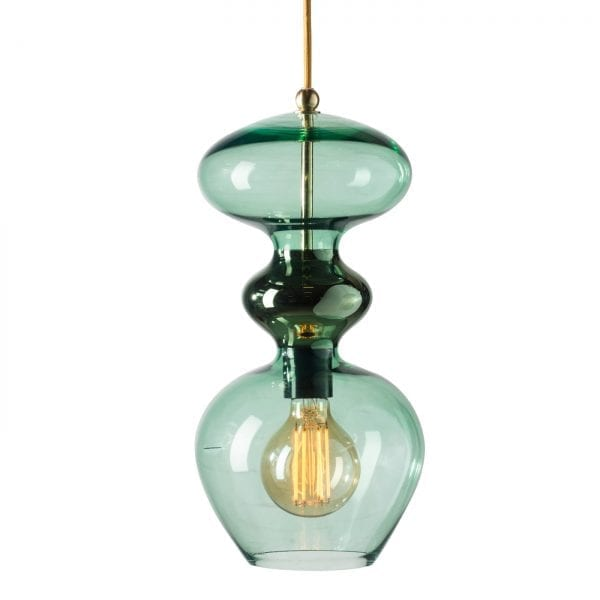 Futura Pendant Lamp, Forest Green, 37cmH