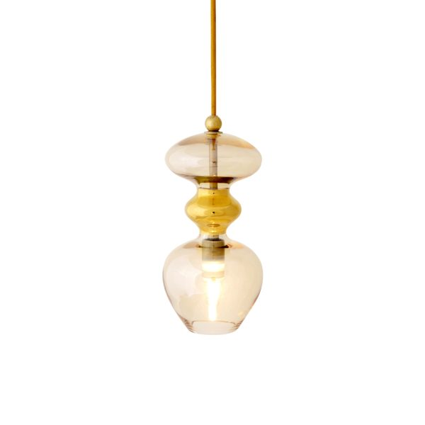 Futura Pendant Lamp, Golden Smoke, 24cmH