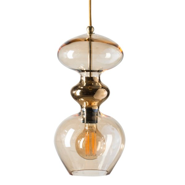 Futura Pendant Lamp, Golden Smoke, 37cmH