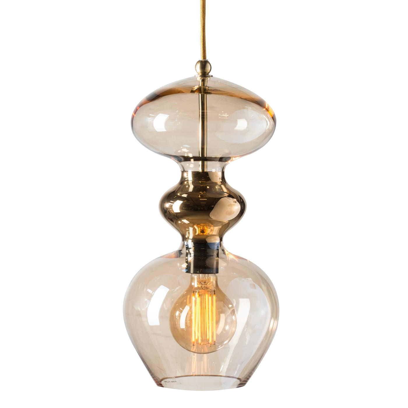 Futura Pendant Lamp, Golden Smoke, 37cmH